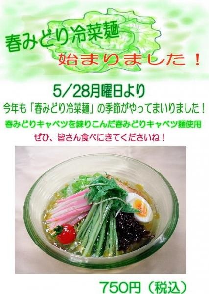 春みどり冷菜麺