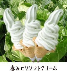 道の駅石神の丘オリジナル 春みどりソフトクリーム